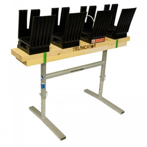 Truncator Multi 4 Fold logging saw bench